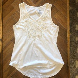Sonoma White Embroidered Tank